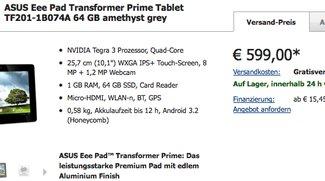 Asus Eee Pad Transformer Prime ab sofort in Deutschland erhältlich - Update: Doch nicht?