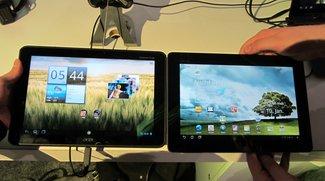 Acer Iconia Tab A510 und Asus Eee Pad Transformer Prime TF 200 im Vergleich - Video und Bilder