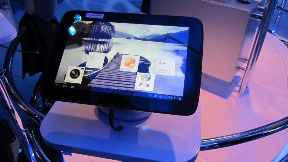 8,9mm dünnes Lenovo Tablet mit Intel Medfield und Android Ice Cream Sandwich (Video und Bilder)