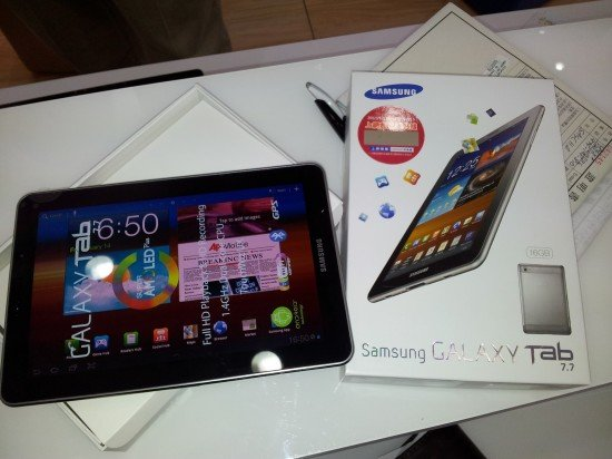 Samsung Galaxy Tab 7.7: Android 4.1.2 Jelly Bean im Anflug?