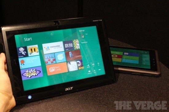Lenovo und Acer arbeiten an Windows 8 Tablets mit Intel Prozessoren