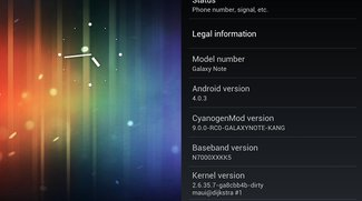 Samsung Galaxy Note bekommt erstes Android Ice Cream Sandwich ROM - Update: Video