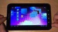 Samsung Galaxy Tab P1000 läuft sehr gut mit Android Ice Cream Sandwich  (Video)