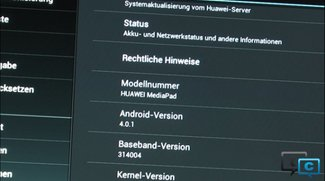 Hands-On-Video zum Huawei MediaPad mit Android 4.0 ICS