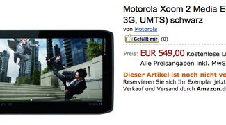 Motorola Xoom 2 Media Edition 3G für 549€ bei Amazon vorbestellbar