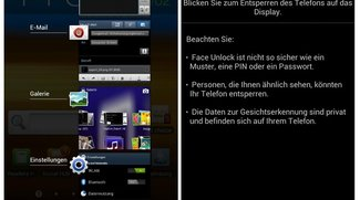 Screenshots zeigen offizielles Android Ice Cream Sandwich Rom des Samsung Galaxy Note
