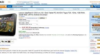 Lenovo IdeaPad K1 - Amazon preiswerter als Aldi