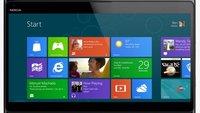 Nokia Windows RT Tablet mit ansteckbarer Tastatur und integriertem Akku