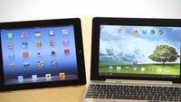 Asus Transformer Pad Prime vs Apple iPad 3 im Vergleich