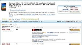 Deal: Samsung Galaxy Tab 7.0 Plus N mit Dual Core und 7 Zoll um nur 222€