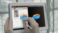 Samsung Galaxy Note 10.1 zeigt sich in erstem Promovideo