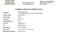 Sony SGPT1211: Neues Sony Tablet bei FCC gesichtet
