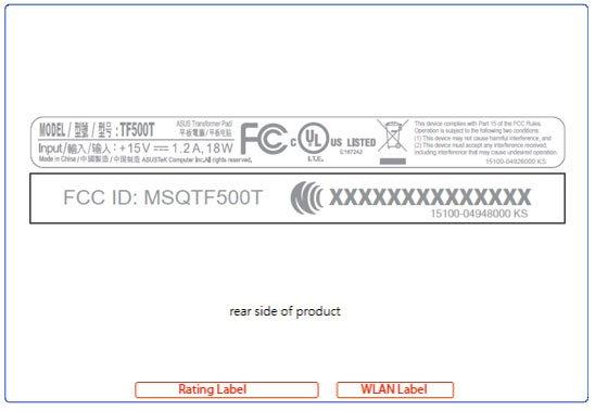 Asus TF500T taucht bei der FCC auf