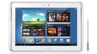 Samsung Galaxy Note 10.1: Bedienungsanleitung und Zwischenhändler verraten Details
