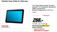 Deal: Toshiba AT200-101 ab 266€ bei MediaMarkt und Cyberport