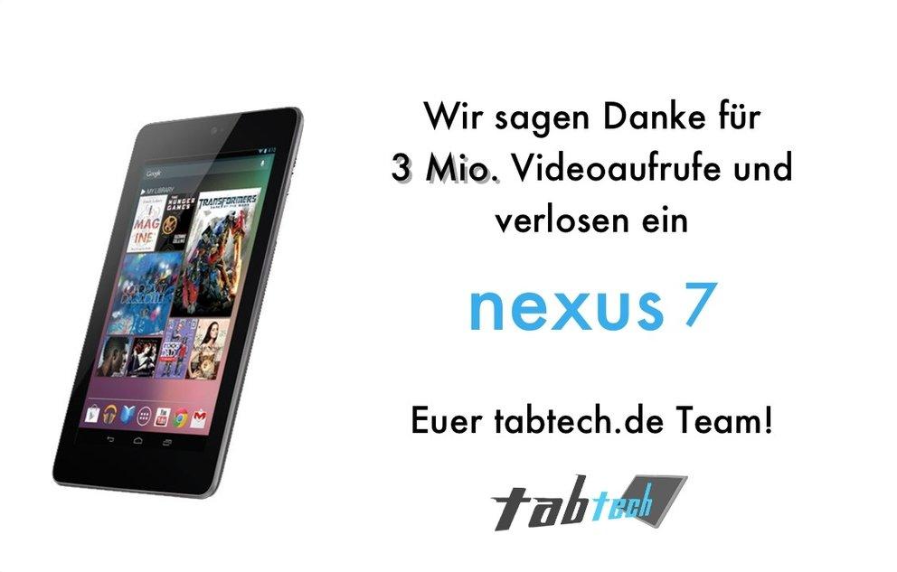 Gewinnspiel: Gewinne ein neues Google Nexus 7 - Update: Gewinner steht fest