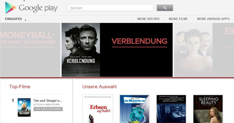 Google Play Movies: Filme auf dem Tablet anschauen
