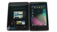 Kindle Fire HD vs. Google Nexus 7 und iPad 3 (Videos)