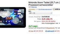 Crazy Deal: Motorola Xoom 3G mit 32GB Speicher ab 269,90€ über Amazon