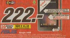 Nexus 7: 16 GB-Variante nur heute in Nürnberg für 222 Euro