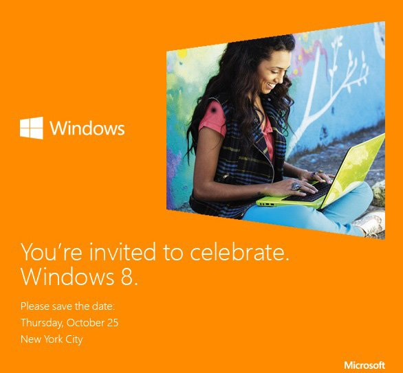 Windows 8 wird am 25. Oktober 2012 in New York enthüllt