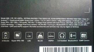ASUS Padfone 2: Verpackung verrät Spezifikationen