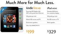 Amazon vs. Apple: Kindle Fire HD bietet mehr für weniger als das iPad mini
