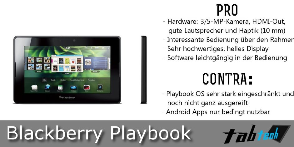 Blackberry Playbook Vergleich