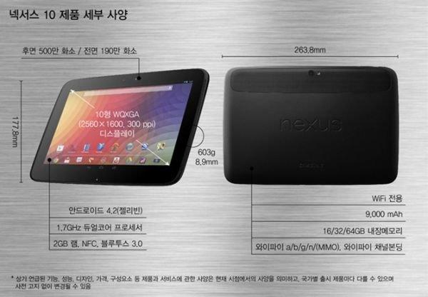 Google Nexus 10: Gerüchte um Version mit 64 GB