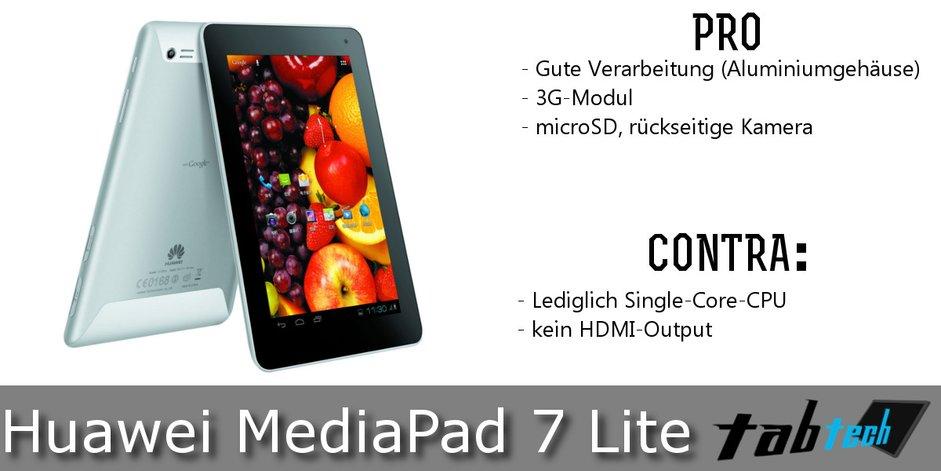 HuaweiMediaPad 7 Lite Vergleich