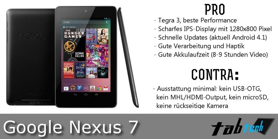 Nexus 7 Vergleich