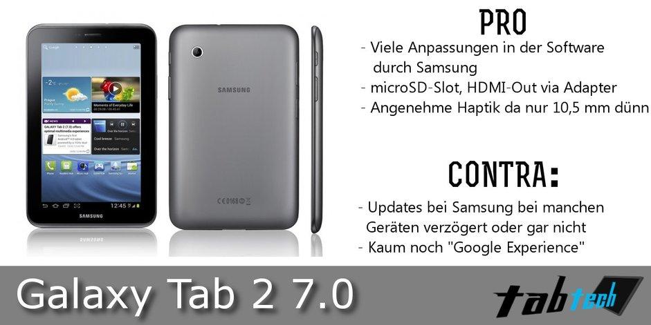 Samsung Galaxy Tab 2 7.0 Vergleich