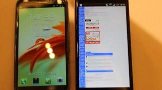 HTC J Butterfly im Vergleichsvideo mit dem Samsung Galaxy S3