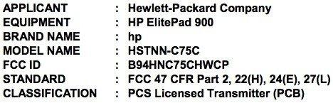 HP ElitePad 900 mit Windows 8 taucht schon bei der FCC auf