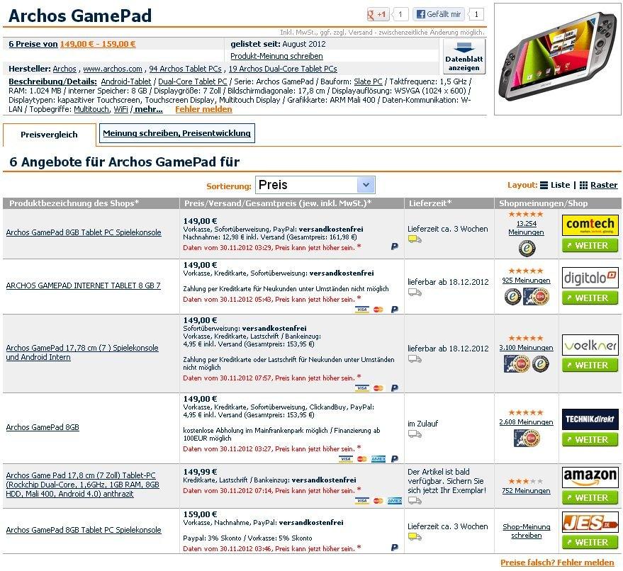 Ist das Archos GamePad ein reales Tablet oder nur ein Fake?