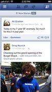 Apps von Facebook und Twitter mit Updates