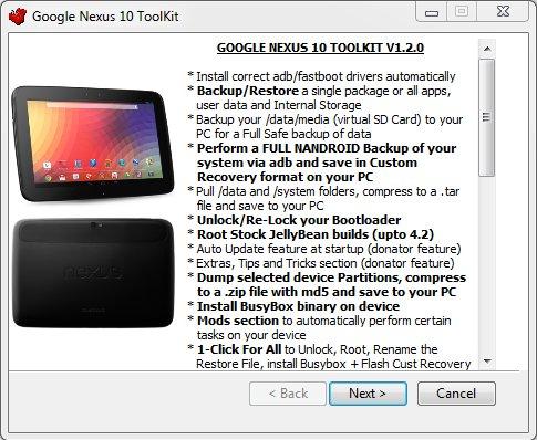 Google Nexus 10: All-In-One-Toolkit erhältlich