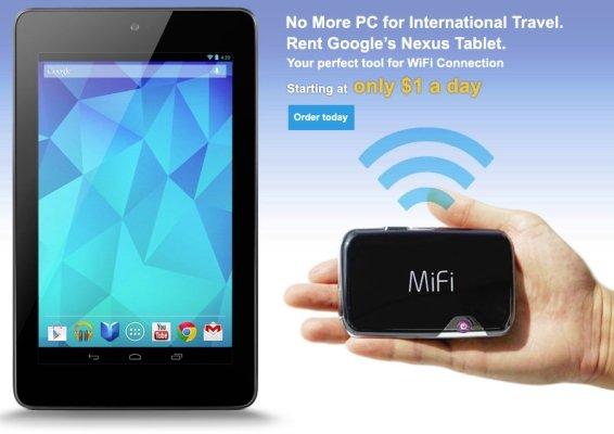 Google Nexus 7 und 10 ab 1 US-Dollar am Tag ausleihen