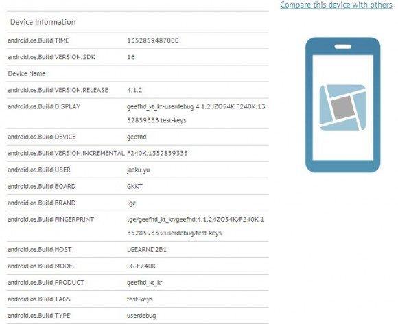 LG F240K Smartlet Benchmark