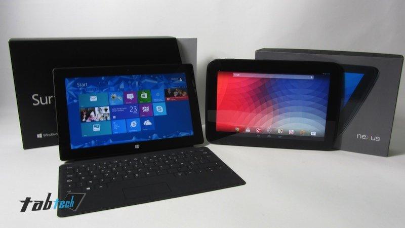 Google Nexus 10 vs Microsoft Surface RT – Der Video-Vergleich