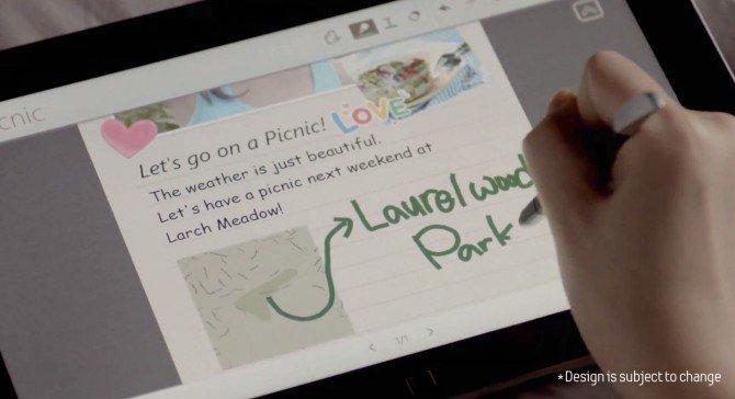 Windows 8 Tablets können Samsung S-Note Stylus App nutzen