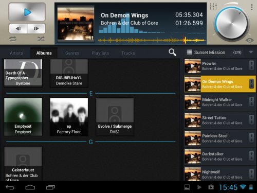 Select! – Ein Music-Player für Android-Tablets