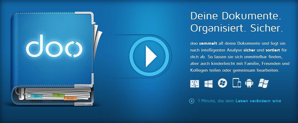 Dokumente mit der Windows 8 - App doo verwalten