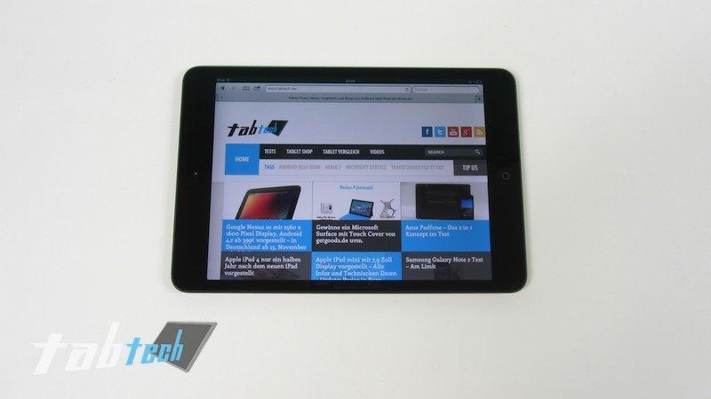Apple iPad mini: Display lediglich durchschnittlich