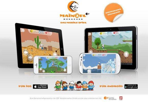 Die ZDF Mainzelmännchen als Jump 'n Run - Spiel für Android und iOS