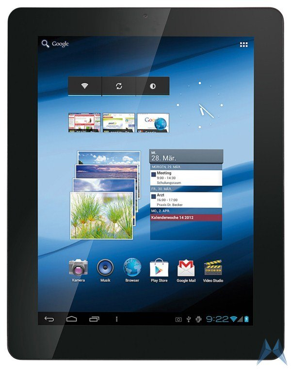 TOUCHLET Tablet-PC X10.dual: Neues PEARL-Tablet kommt Ende November