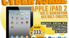 Deal: Apple iPad 2 WLAN-Version für 333 Euro bei Cyberport