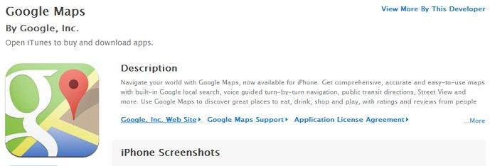 Google Maps für iOS nicht Tablet-optimiert, dafür Google News in den USA