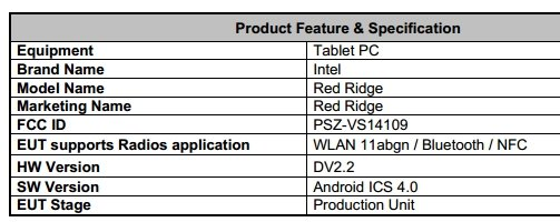 Red Ridge: Eigenes Android-Tablet von Intel gesichtet
