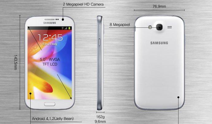 Samsung Galaxy Grand GT-I9082 präsentiert – 5-Zoll-Display mit niedriger Auflösung
